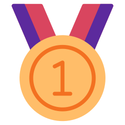 achievement, medal, champ, trophy, success, award, winner icon icon