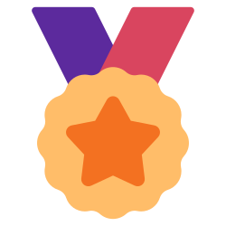 achievement, medal, trophy, success, badge, award, winner icon icon