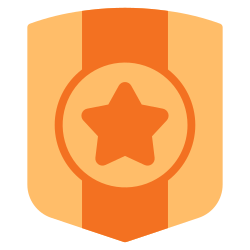 achievement, medal, trophy, success, badge, award, shield icon icon