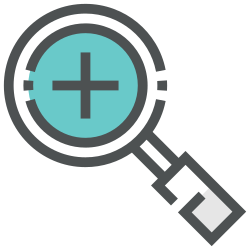 add, find, plus, search, magnifier, glass, zoom icon icon
