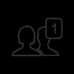 add friend, notification, friend request icon icon