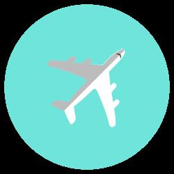 air, flight, aircraft, transportation, airplane icon icon