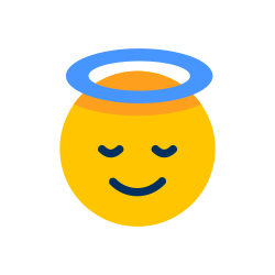 angel face, smiley, emotion, face, emoji, emoticon icon icon