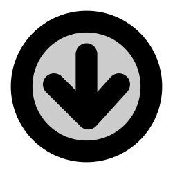 arrow, down arrow, direction, down icon icon