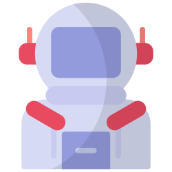 astronaut, galaxy, space, science, astronomy, planet, research icon icon