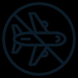 aviod, covid19, traveling0, coronavirus, prohibit, ban, airplane icon icon