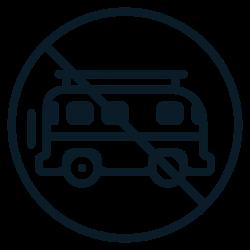 aviod, covid19, traveling0, coronavirus, prohibit, bus, ban icon icon