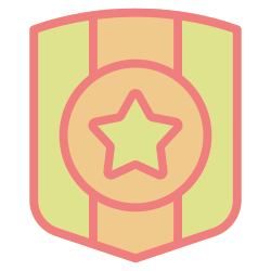 award, medal, badge, achievement, success, shield, trophy icon icon