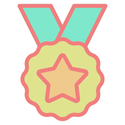 award, medal, winner, badge, achievement, success, trophy icon icon