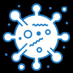 bacteria, 2, virus, bug, corona icon icon
