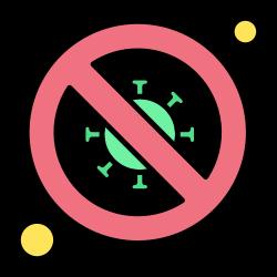 bacteria, no, scientist, forbidden, signaling, diagnosis icon icon