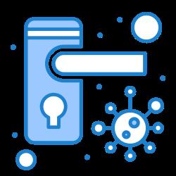 bacteria, safety, locked, doorknob icon icon