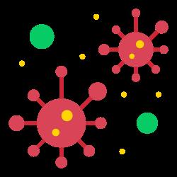 bacteria, virus, coronavirus, covid19, infection icon icon