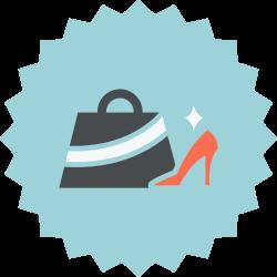 bag, fashion, accessories, female, shoe icon icon
