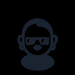 bald, shaved, alternatie, people, sunglasses, female icon icon