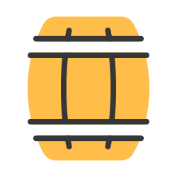 barrel, drink, alcohol, keg, beer, vintage, wooden icon icon
