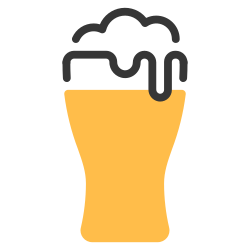 beverage, drink, alcohol, beer, foam, glass icon icon