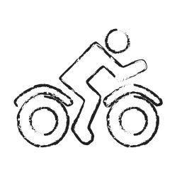 bike, user, rider, delivery, transport, vehicle icon icon