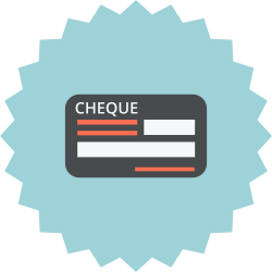 bill, payment methode, check, cheque, blank, payment icon icon