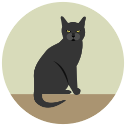 black cat, angry, halloween icon icon