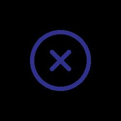 blue, delete, close, cancel, cross, remove icon icon