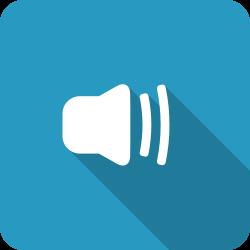 blue, medium, volume, adjust, speaker, half, shadow icon icon