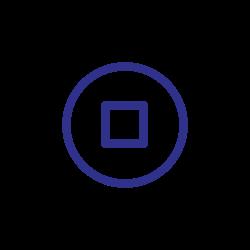 blue, stop, cancel, control, pause, remove icon icon