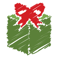 box, gift, free, surprise, scribble, christmas, present icon icon