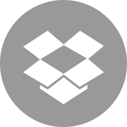 box, media, drop, online, social icon icon