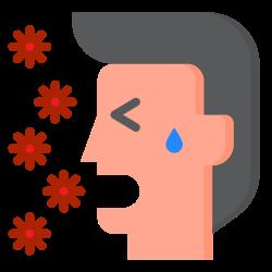 breath, corona, cough, coronavirus, covid19 icon icon