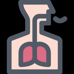 breath, health, short, lung icon icon