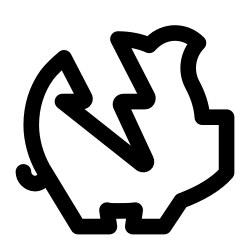 broken, piggy, bank, ecommerce, piggybank, and, shopping icon icon