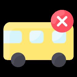 bus, travel, coronavirus, prohibited icon icon