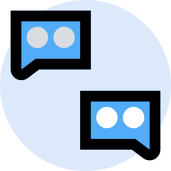 business, conversation, office, finance, marketing, management icon icon