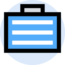 business, marketing, office, finance, bag, management icon icon