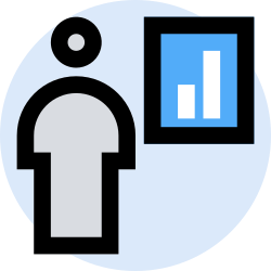 business, office, finance, presentation, marketing, management icon icon