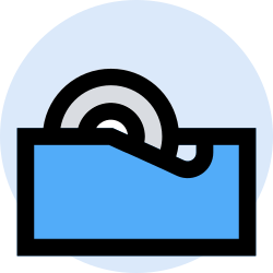 business, office, finance, tape, marketing, management icon icon