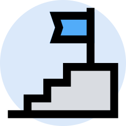business, office, finance, stair, marketing, management icon icon