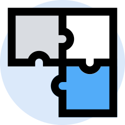 business, office, finance, puzzle, marketing, management icon icon