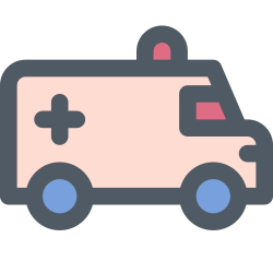 car, hospital, ambulance, medical, emergency icon icon