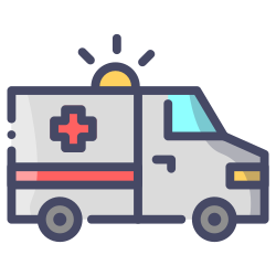 car, transport, medical, ambulance, emergency, transportation icon icon