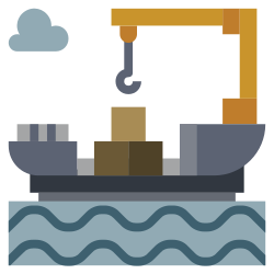 cargo, oil, power, industry, factory, illustration, ship icon icon