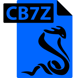 cb7z, format, comic book, file, sumatrapdf icon icon