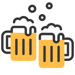 celebration, drink, cheers, alcohol, beer, happy, party icon icon