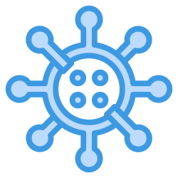 cells, bacterium, medical, coronavirus, virus icon icon