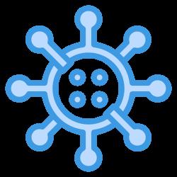 cells, bacterium, medical, coronavirus, virus icon icon