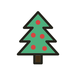christmas tree, tree, christmas, holidays icon icon