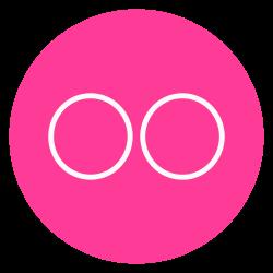 circle, flickr, outline, social-media icon icon
