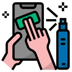 clean and disinfect, virus, bacteria, disinfection, prevention, hygiene icon icon