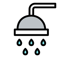 clean, bath, shower, hygiene, take a shower, wash icon icon